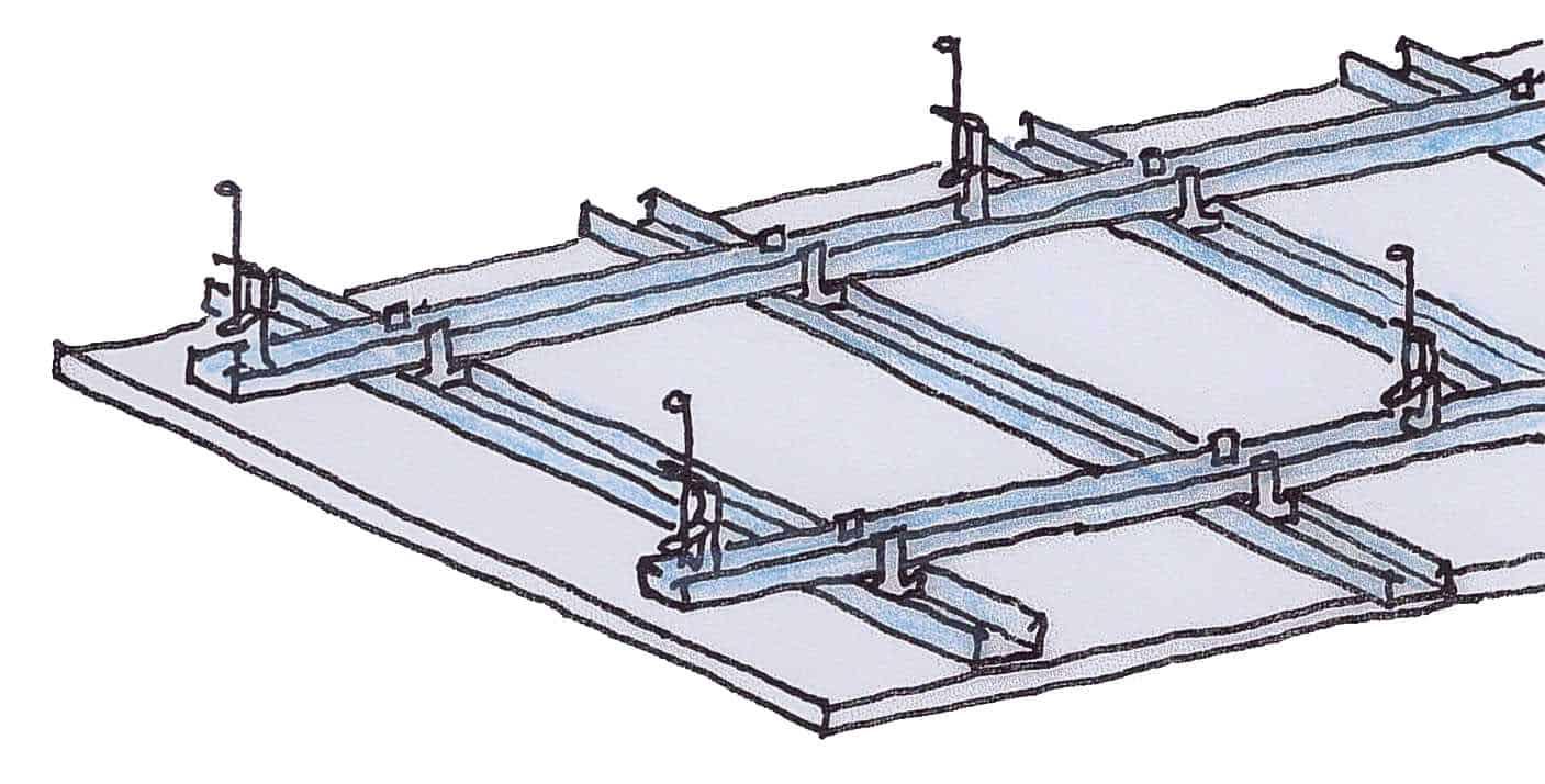 Deckenelement einer abgehängten Gipsdecke