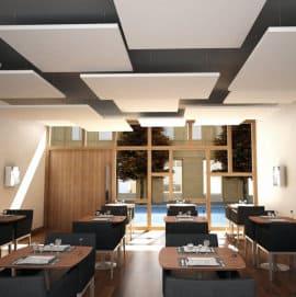 Verbesserung der Raumakustik in einem Restaurant