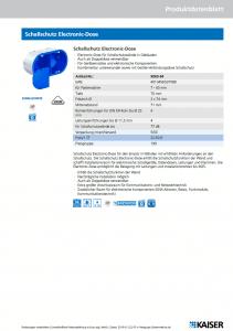 Schallschutz Electronic-Dose